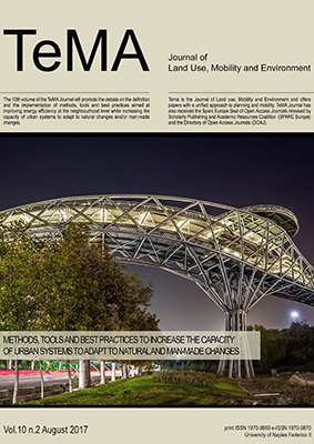 Vol 10, N° 2 (2017): Methods, tools and best practices to increase the capacity of urban systems to adapt to natural and man-made changes